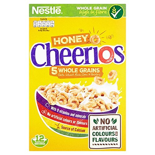 Nestle Honey Cheerios 5 Whole Grain Cereal, 375g