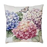 Vovotrade Dekorative Vintage Blumen Sofa Kissenbezug Dekokissen Bezug Kopfkissenhülle Geschenk Haus Dekoration Zierkissenbezüge weich Quadrat Sofa Kissen
