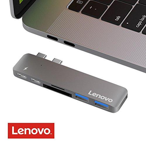 Lenovo USB C Hub, Type C Hub Adapter für Macbook Pro 13