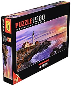 Anatolian/perre Group - Ana.3787 - Puzzle Classique - Lighthouse At Portland Head - 1500 Pièces