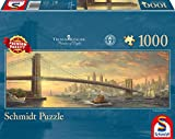 Schmidt Spiele Puzzle 59476 - Puzzle Thomas Kinkade 1.000 Teile Brooklyn Bridge, New York, Panoramapuzzle