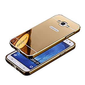 True Collection Luxury Metal Bumper + Acrylic Mirror Back Cover Case For SAMSUNG GALAXY ON7 / ON 7 G6000 GOLD