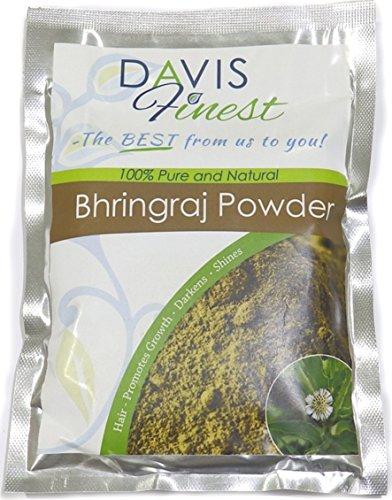 Davis feinstem Bhringraj Powder-Natural Herren Frauen-Gesundes Haar Verlust, Wachstum Behandlung Produkt Schuppen frei Kopfhaut, Haar-Shining schwarz Dye Farbe Enhancer (100g) -