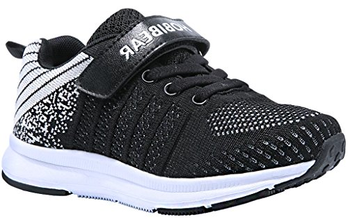 Gaatpot sneaker basse ragazzi ragazze scarpe da ginnastica running sportive trainers tennis unisex - bambini nero 31 eu = 32 cn