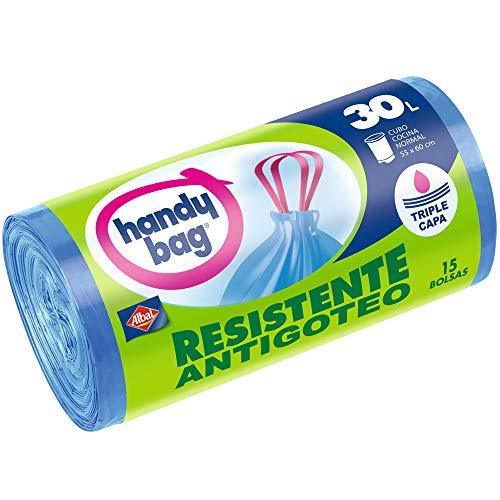 Handy Bag-Gefrierbeutel Mülleimer 30l mit Robust-antibakteriell-15Stück