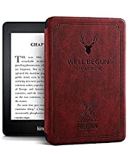 """Robustrion Ultra Slim Smart Flip Case Kindle Cover for All 6"""" Amazon Kindle Cover 10th 10 Generation 2019 Kindle Cover - Deer Wine Red"""