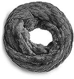 Grin&Bear warmer weicher Loop Schal mit Strick Muster und weichem Fleece Innenfutter A21-2