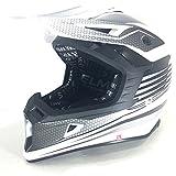 MOTORRADHELM VIPER RSX95 WIDOW MOTOCROSSHELM MX ENDURO HELM 2 FARBEN (M, SCHWARZ CARBON)