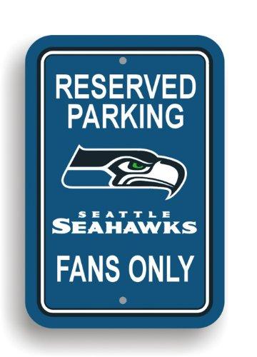 imore Ravens Kunststoff Parken Schild, Unisex, 90214, Seattle Seahawks, 12 x 18 ()