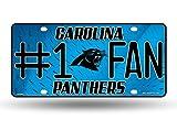Rico NFL #1 Fan US-Kennzeichen Metall-Schild Carolina Panthers