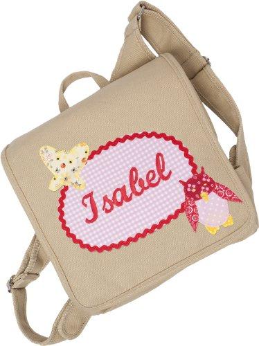 Kindergartentasche mit Namen und Kinderrucksack mit Namen (Motiv Apfel) Motiv Eule