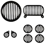 #10: Autofy Plastic Grill for Royal Enfield Bullet Electra 350 & Royal Enfield Electra 500 (Set of 8) - 1 Headlight Grill 1 Tail Light Grill 2 Parking Light Grills 4 Indicator Grills- All Models