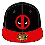 Marvel Comics Deadpool Herren Snapback Cap - Classic Logo Baseball Cap Schwarz