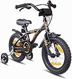 Prometheus vélo enfant 14 pouces pour garçons et fille en Noir Mat et Orange à...