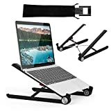 G-Color Supporto per PC Portatile Angolazione Regolabile Pieghevole Supporto da 11-17 Pollici per Computer Portatile/Notebook/MacBook PRO/MacBook Air/iPad Laptop Stand-Nero