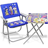 Imtion Combo Pack Chiar And Table For Kids Multipurpose Study Learning Writing Table Use 1 To 6 Year Old Age Blue Color Baby Table Chair (Blue Chair Table + Free 1 Pcs Water Game)