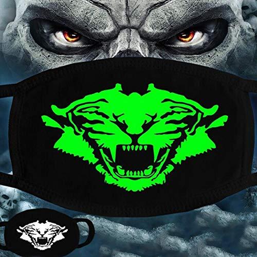 ZXIU Masken für Kostüme Frau Männer Im Dunkeln Leuchten Scarey Masken Mund Halb Gesicht Maskerade Cosplay Kostüm Maske - Halb Mann Frau Kostüm