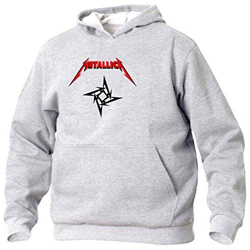 Art T-shirt, Felpa Con Cappuccio Metallica Logo, Uomo, Grigio, L
