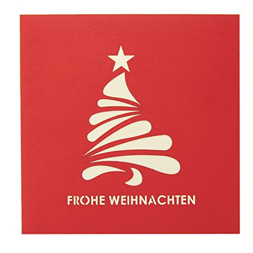 Favour Pop Up Weihnachtskarte. Stilvolles Design und aufwändige Handarbeit schaffen auf kleinstem Raum ein filigranes Kunstwerk, dass sich beim Öffnen als