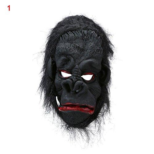 niceEshop(TM) Zwei Zähne Gorilla mit Großen Ohren Maske für Halloween (Gorilla Maske Kostüme)