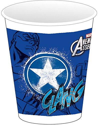 Marvel 200ml Teens Avengers Assemble Kunststoff Tassen, 8Stück mit Captain America
