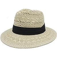 Sunhat-TX Sombrero - Trabajo Hecho a Mano Verano Mujeres Hombres Rafia  Sombrero de Paja 98ec1639be83