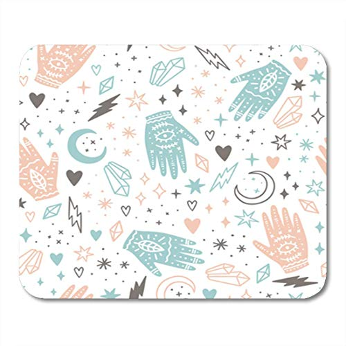 ne Magic Hands and Crystals Seamless Pattern Teller Cute Paper 11.8