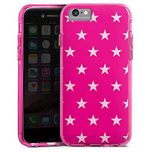 Apple iPhone 7 Bumper Hülle Bumper Case Glitzer Hülle Star Stern Pink Bumper Case transparent pink