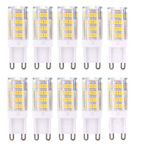 ss - G9 LED Leuchtmittel Birne 5W 420LM Kein Flimmern, 360°Abstrahlwinkel, Ersatz für 40W Halogen,G9 LED-Glühbirne 10er-Pack ()