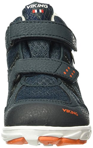 Viking Hobbit Mid, Baskets Basses Mixte Enfant Bleu - Blau (Dark Blue/Orange 7631)