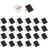Mehrondo 25 Stück Kleine Tafelklammern EX210 ideal für Pflanzenschilder, Namensschilder und zum Basteln