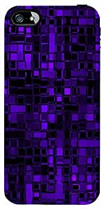Snoogg Purple Digital 2422 Case Cover For Apple Iphone 5