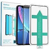XeloTech 3D/4D Schutzglas kompatibel mit iPhone XR - Mit Schablone für ideale Positionierung - Full Screen Vollglas-Bildschirmschutz aus 9H Glas