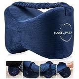 NATUMAX Kniekissen für Seitenschläfer, Ergonomisches Knie-Kissen für Seitenschläfer, Memory Foam Beinkissen(Marineblau)