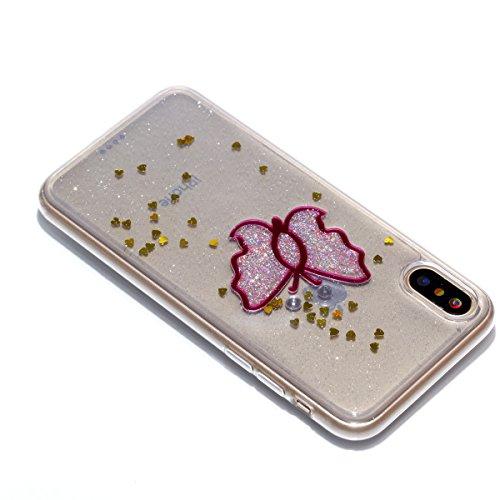 iPhone X Hülle, Voguecase Silikon Schutzhülle / Case / Cover / Hülle / TPU Gel Skin Handyhülle Premium Kratzfest TPU Durchsichtige Schutzhülle für Apple iPhone X(EPOXY-Dreamcatcher 07) + Gratis Univer EPOXY-ein Schmetterling