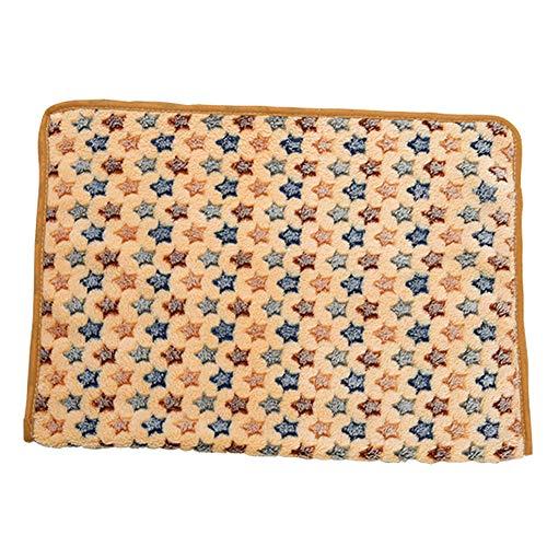 GODGETS Super Softe Warme Weiche Decke für Haustier Hundedecke Katzendecke Fleece-Decke/Tier Schlafdeck,Camel Star,104 * 76CM