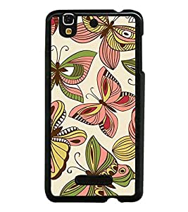 Butterflies Pattern 2D Hard Polycarbonate Designer Back Case Cover for YU Yureka :: YU Yureka AO5510