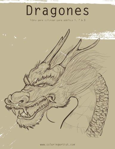 Dragones libro para colorear para adultos 1, 2 & 3 por Nick Snels