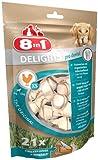 8in1 Delights Dental XS - Os à Mâcher Enrichi en Minéraux pour Chien de Petite Taille - 21 pièces