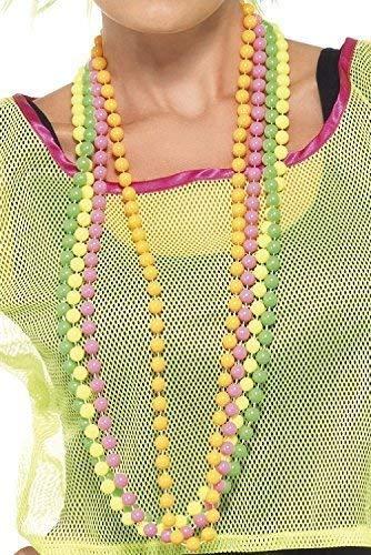 re Neon Perlen Mardi Gras Pride Fest Rabe Spaß Kostüm Kleid Outfit Halsketten ()