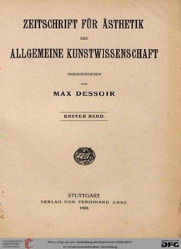 Zeitschrift für Ästhetik und allgemeine Kunstwissenschaft [Jahresabo]