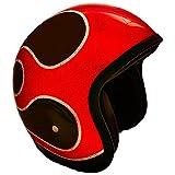 PI Wear Jet Super Flake Fire Race Rot schwarz * sehr kleiner und schmaler Jethelm * auffälliges Design * keine ECE (XS)