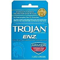 Trojan Enz Spermicidal Lubricant Condoms - 3 Pack preisvergleich bei billige-tabletten.eu