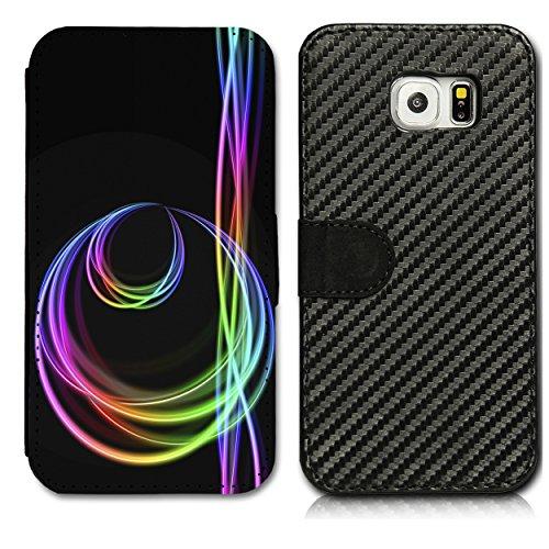 4608 Sb (Book Style Carbon Flip Handy Tasche Hülle Schale Motiv Foto Etui für Samsung Galaxy S5 Neo - Flip CB7 Design11)