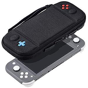 Tragetasche für Nintendo Switch Lite, REDTRON Protective Hard Shell Reisetasche Tasche mit 8 Spielkassetten passend für Switch Lite Konsole 2019