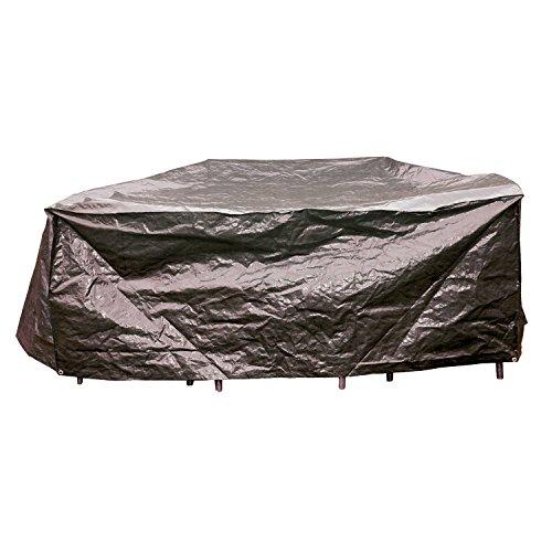 Lesli Living Housse de Protection pour chaises Groupes Gris Ø200 x 80 cm