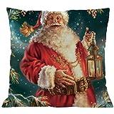 TEBAISE Kissenbezuge Weihnachten Kissenhülle Dekokissen Throw Pillow Covers Bettwäsche Für Autos Sofakissen 1 er Set Weihnachten Baumwolle Leinen Home Taillen Kissenbezug Dekokissen Fall 45 x 45cm