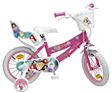 Toimsa - Bicicletta da Bambina, 14' (dai 4 ai 7 Anni), Motivo: Principesse Disney