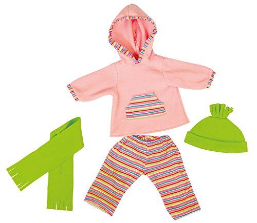 bayer-design-83841-vetement-pour-poupee-habit-poupon-gilet-a-capuche-pantalon-et-accessoires-38-cm