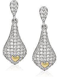 Orphelia Women's Earrings 18 Carat (750) White Gold Diamond White OD - 5324